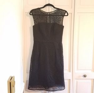 Milly Black Lace with Ruffle Dress
